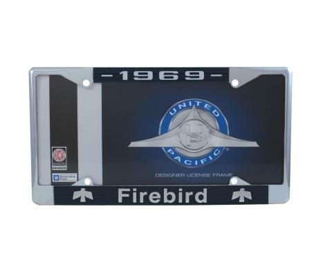 United Pacific Chrome License Plate Frame For 1969 Pontiac Firebird C5039-69