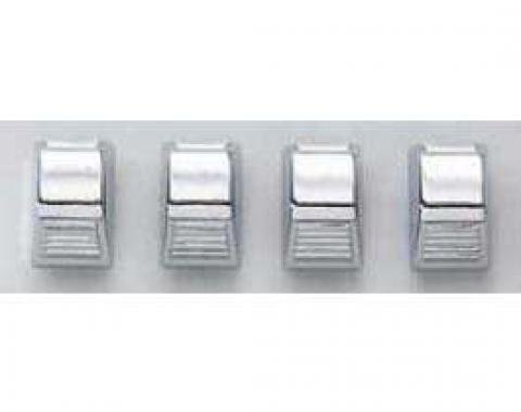 Temperature Control Knobs, Chrome, 1965-1981