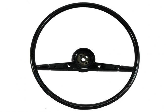 Full Size Chevy Volante OE Series Resto-Mod Steering Wheel, Black, 1957