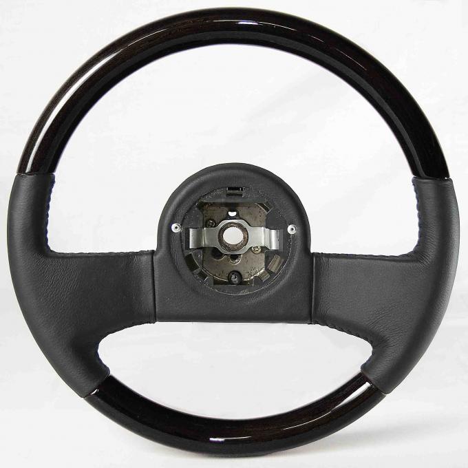 Corvette Volante OE Series Steering Wheel, Black Ash & Black Leather Grip, 1984-1989