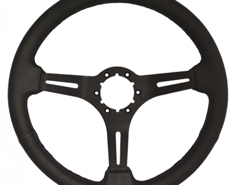Volante S6 Sport Steering Wheel, with Black Spokes & Leather Grip