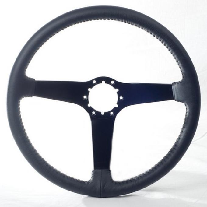 Corvette Volante OE Series Steering Wheel, with Black Spokes & Leather Grip, 1980-1982