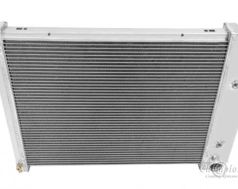"Champion Cooling 2 Row with 1"" Tubes All Aluminum Radiator Made With Aircraft Grade Aluminum AE571"