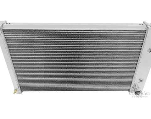 Champion Cooling 1970-1981 Pontiac Firebird 2 Row All Aluminum Radiator Made With Aircraft Grade Aluminum EC573