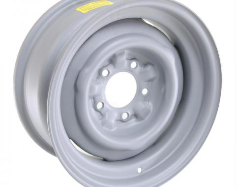 GM Factory Style Stamped Steel Wheel, Gray, 15x8