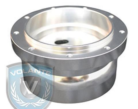 Steering Wheel Hub Adapter, for use with Volante S9 Steering Wheels, Brushed Aluminum, STH1005