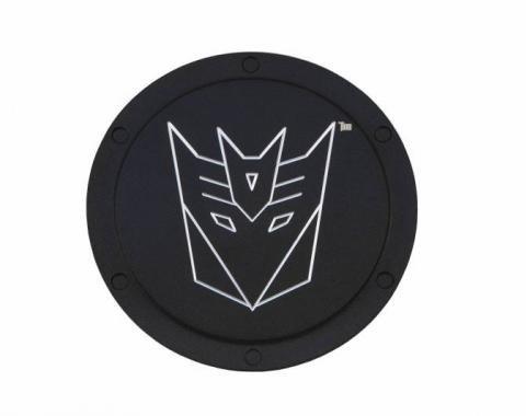DefenderWorx Transformers Decepticon Logo, Black Billet Non-Locking Gas Door TT-1004