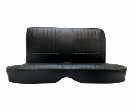 Mustang Procar Rear Seat Cover, Rally, Fastback, 65-66 | Black Vinyl