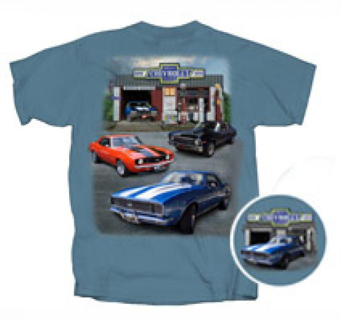 Super Chevrolet Service, Muscle Garage, T-Shirt