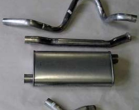 Firebird Exhaust, V8, Single Outlet, Stainless Steel, 1975-1981