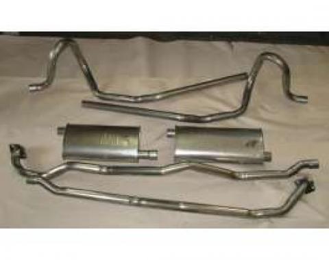 Firebird Exhaust, Aluminized, V8, High Performance, Dual Outlet, 1978-1981