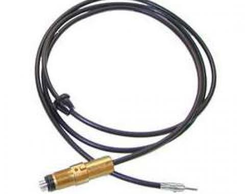 Firebird Radio Antenna Cable, Front Mount, With Antenna Body,1969