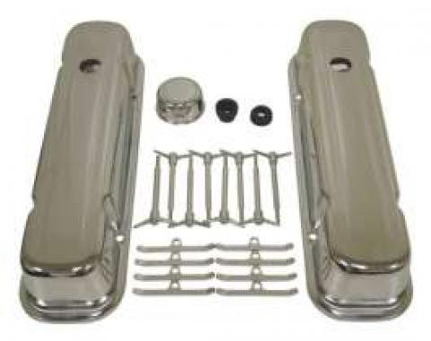 Firebird Chrome Valve Cover Kit, 1967-1977