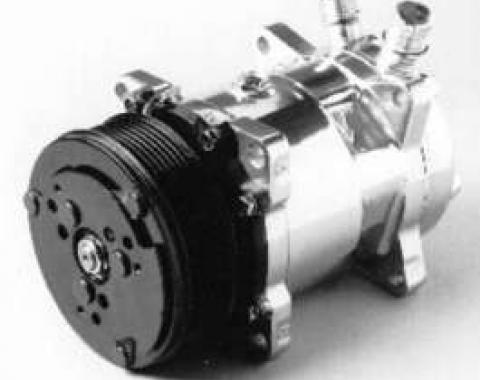 Firebird Air Conditioning Compressor, Chrome, Sanden 508/134A, 1967-1981
