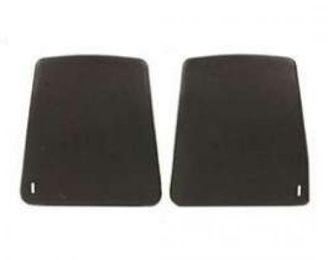 Firebird Bucket Seat Back Panels, Black, 1968-1969