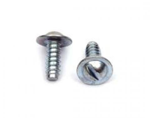Firebird License Plate Mounting Screws, Flanged, Slotted, Rear, 1967-1969