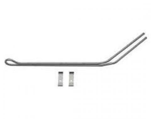 Right Stuff '69 Firebird Power Steering Cooler Line w/ Bracket - Stainless FPS6901S