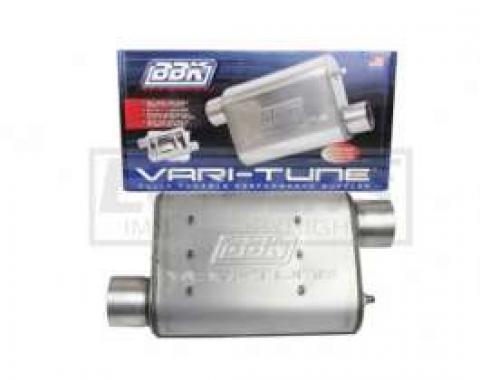 Firebird BBK 2-1/2 Vari-Tune Adjustable Aluminized Steel Performance Muffler, Offset