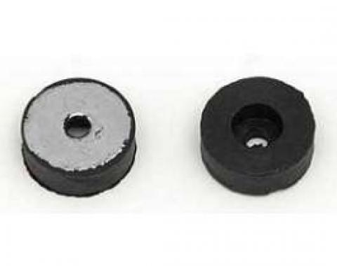 Firebird Bucket Seat Back Rubber Stoppers, With Metal Inserts& Mounting Screws, 1967-1969