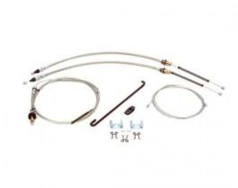 Firebird Parking Brake Cable System Kit, Complete, 1967-1969