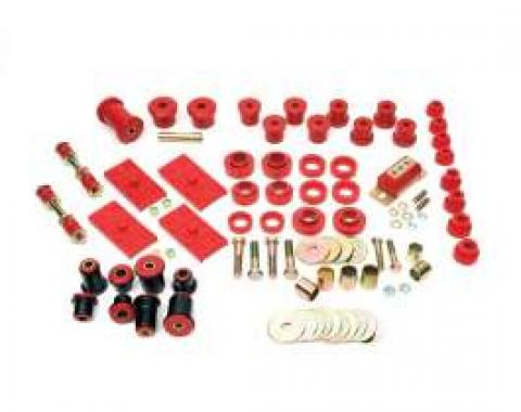 Firebird Suspension Kit, Polyurethane, Complete, Multi Leaf, Red, 1967-1969