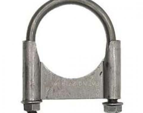 Firebird Exhaust Muffler Clamp, Guillotine Style, Steel, 2-1/4, 1967-1969