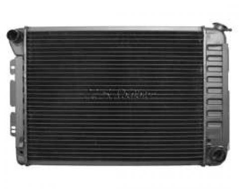Firebird Radiator, For Cars With Manual Transmission & Air Conditioning, 1967-1968, Big Block, For Cars With Manual Transmission, U.S. Radiator, 1969