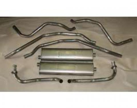 Firebird Exhaust, V8, 305ci, Dual, Stainless Steel, 1982-1984