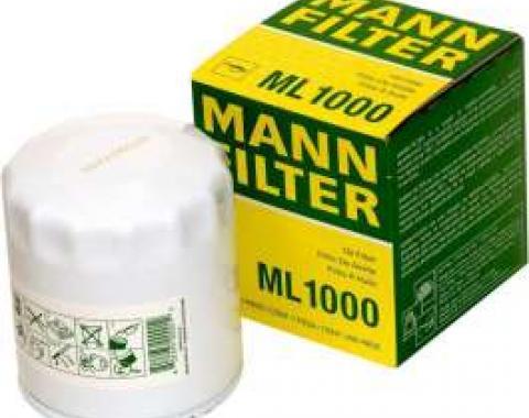 Firebird Oil Filter, V6, & 4 Cylinder, MANN-FILTER, 1980-2002