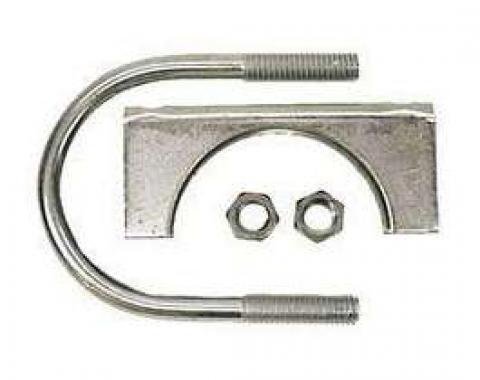Firebird Exhaust Muffler Clamp, Steel, 2-1/4, 1967-2002