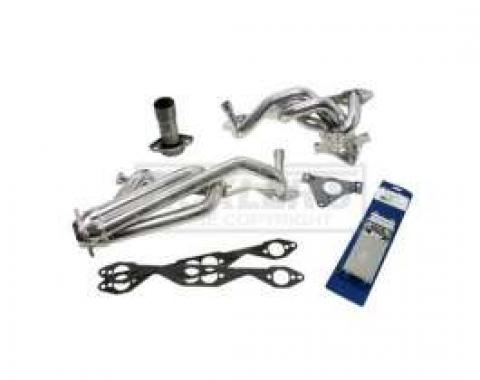 Firebird LT-1 BBK Dual-Catalytic 1-5/8 Chrome Shorty Tuned Length Exhaust Header Kit, 1995-1997