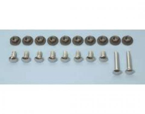 Firebird Bumper Mounting Bolt Set, Front & Rear, Polished Chrome, 1968-1969