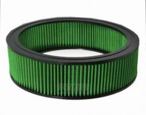 Firebird Green Air Filter, Small Block, 1978-1981