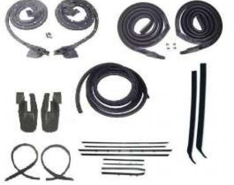 Firebird Coupe Body Weatherstrip Kit, With Reproduction Window Felt, For Cars With Standard Or Deluxe Interior, 1967