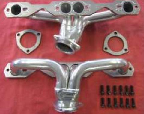 Firebird Headers, Ceramic Coated, Small Block, Shorty, 1982-1992