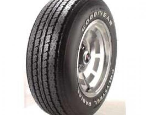Firebird Tire, Goodyear, Polyester Radial,P225-70R-15, Raised White Letters,1970-1981