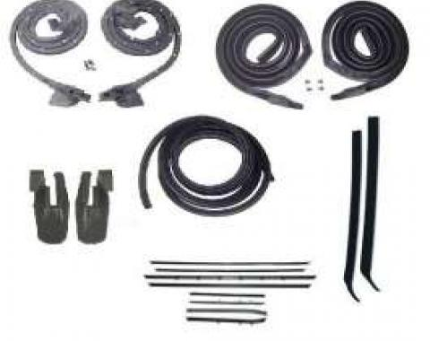 Firebird Coupe Body Weatherstrip Kit, With Reproduction Window Felt, For Cars With Standard Interior, 1968-1969