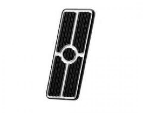 Firebird Gas Pedal Pad, Black Anodized Aluminum, Billet Specialties, 1967-1969
