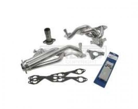 Firebird LT-1 BBK Dual-Cat 1-5/8 Silver Ceramic Shorty Tuned Length Exhaust Header Kit, 1995-1997