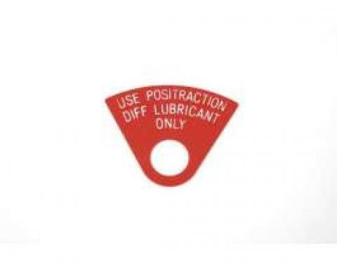 Firebird Positraction Differential Lubricant Tag, 1968-1969