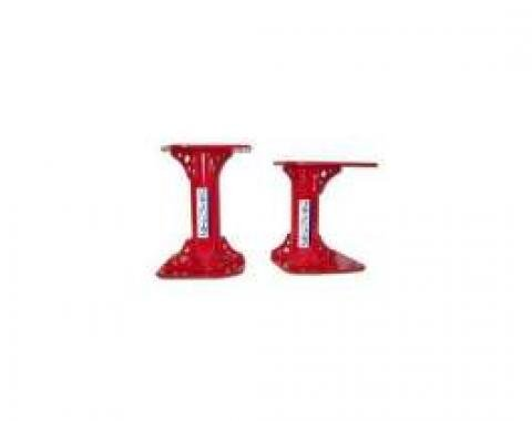 Firebird Motor Mounts, Solid, Tubular, Red, 1998-2002