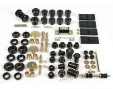 Firebird Suspension Kit, Polyurethane, Complete, Multi Leaf, Black, 1967-1969