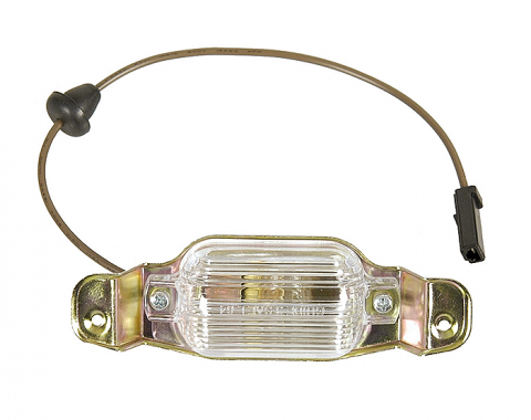 Camaro, License Lamp Assembly, Reproduction, 1967-1969