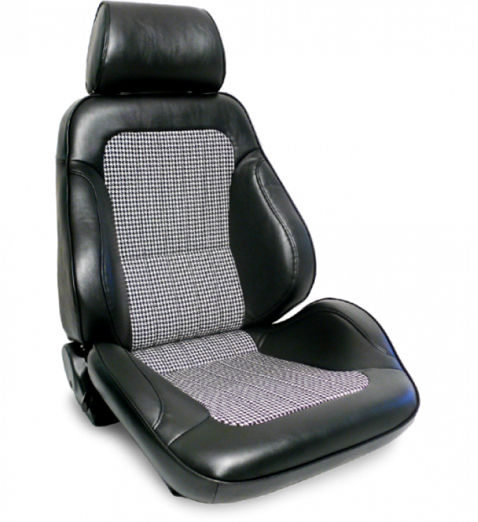 Procar Rally Seat, with Headrest, Right, Black Houndstooth