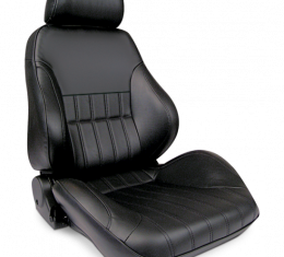 Procar Smoothback Rally Seat, with Headrest, Right, Black Leather