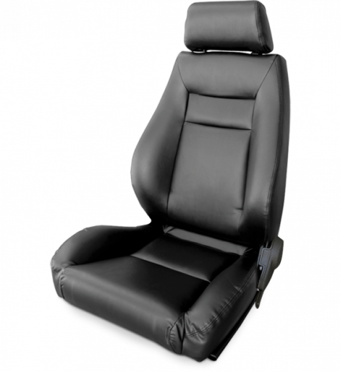 Procar Elite Seat, Left, Black Leather