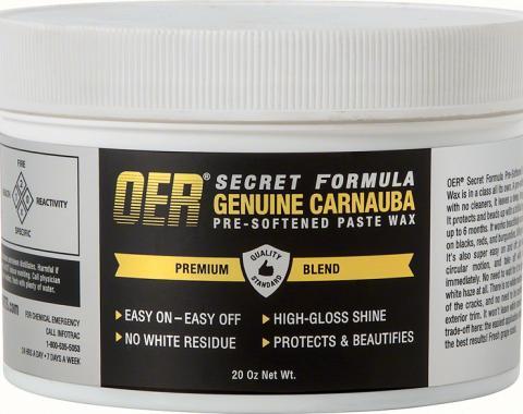 OER Secret Formula Pre-Softened Carnauba Paste Wax - 20 Oz. Can K89623