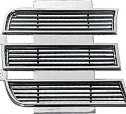 OER 1969 Camaro Rally Sport Chrome Headlamp Door Trim, RH 3958006