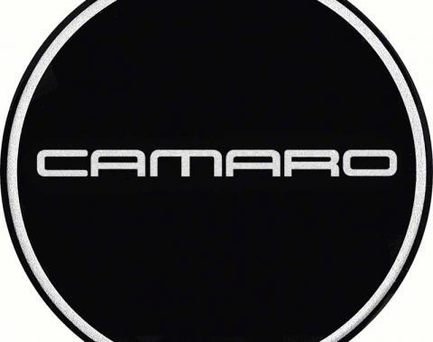 "OER 2-1/8"" GTA Wheel Center Cap Emblem with Chrome Camaro Logo and Black Background K151766BK"