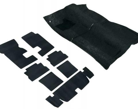 OER 1982-92 F-Body Black Cut Pile Passenger And Hatch Area Carpet And Underlay Set *R2901
